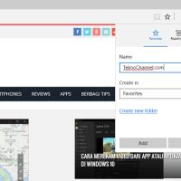 Cara mudah menambahakan situs favorit Anda dari Microsoft Edge, agar Anda tidak lagi akan mengetik kembali alamat yang ingin Anda kunjungi lagi