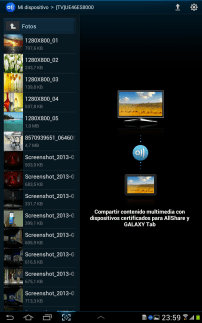 AllShare Play en Galaxy Tab 2