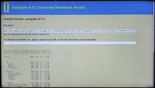 Benchmark SunSpider