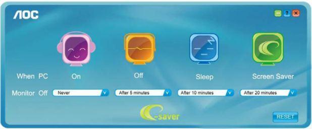Pantalla del program e-Saver