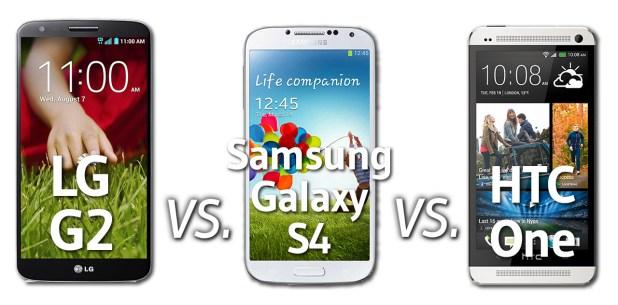 LG G2 vs Samsung Galaxy S4 vs HTC One