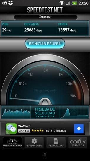 Velocidad Wi-Fi