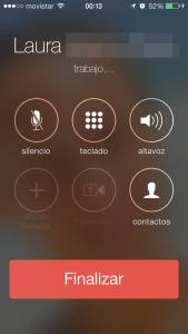 iPhone 5c - Llamada