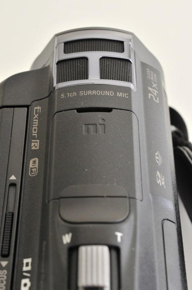 Sony JDR PJ-810E - Parte superior