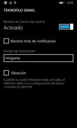 Configuración de notificaciones