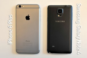 iPhone 6 Plus y Samsung Galaxy Note 4