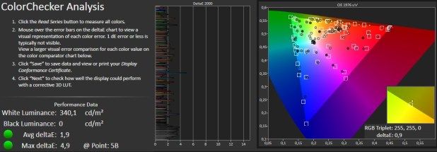 calman - samsung galaxy tab s2 tablet
