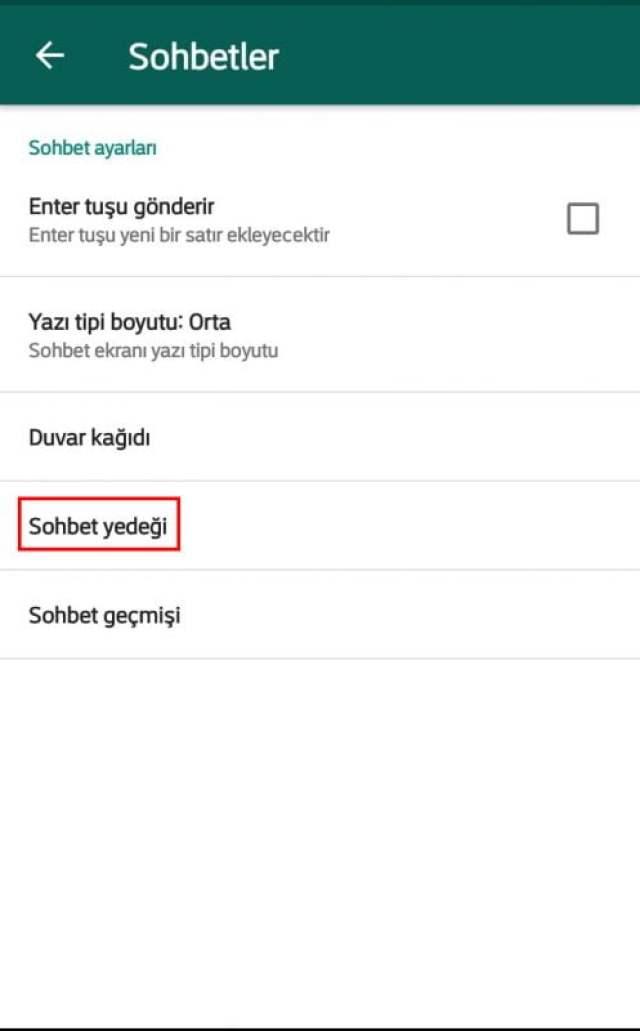 Whatsapp Sohbet Yedek 2