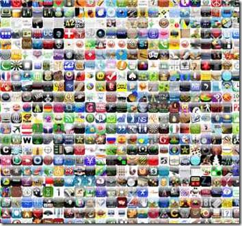 bilde med mange apps
