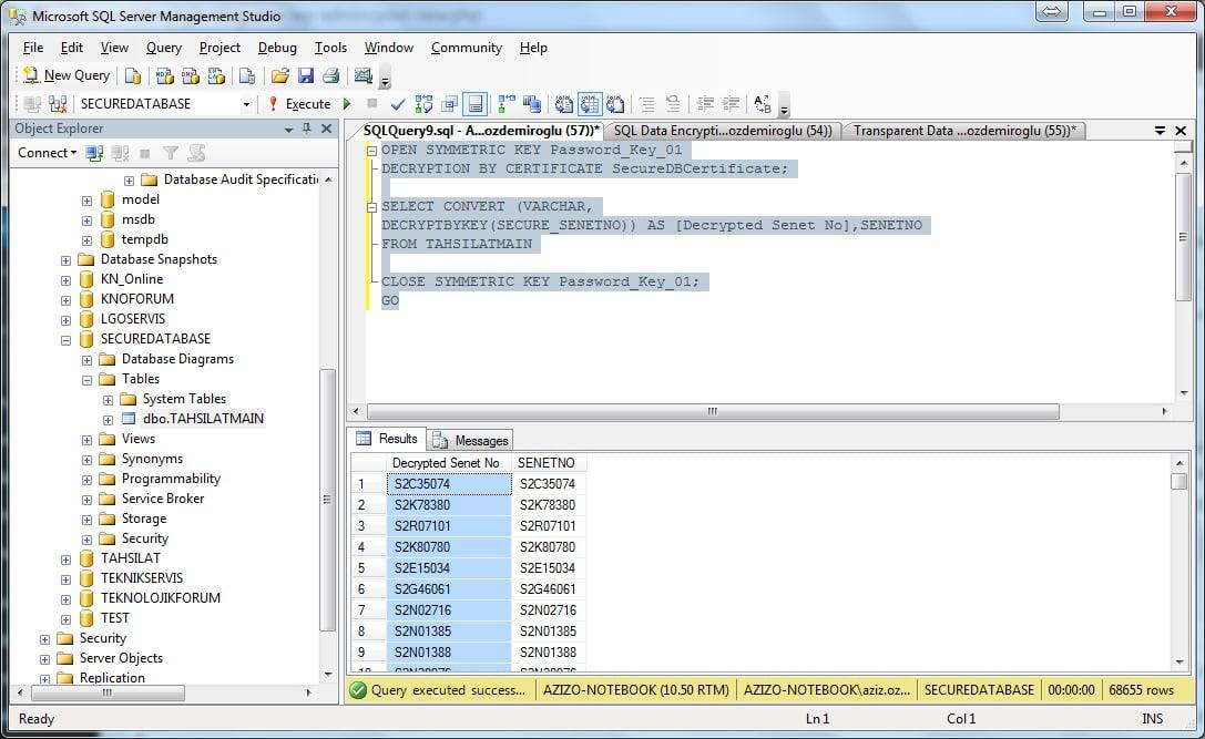 SQL Server Transparent Data Encryption ( TDE )