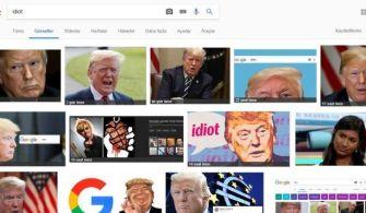 Google'da 'Idiot' Sözcüğünü Aratınca Sonuç Olarak Trump Çıkıyor