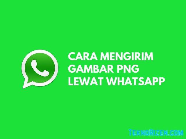 Cara Mengirim Gambar Transparan di WhatsApp