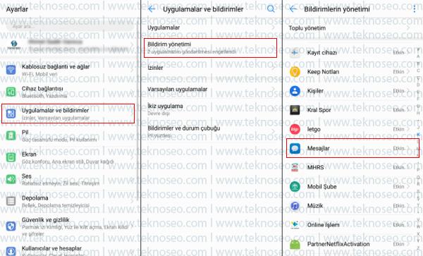 huawei,kilit ekranı bildirimleri,içerik gizleme,mesaj içeriğini gizleme,whatsapp içeriğini gizleme