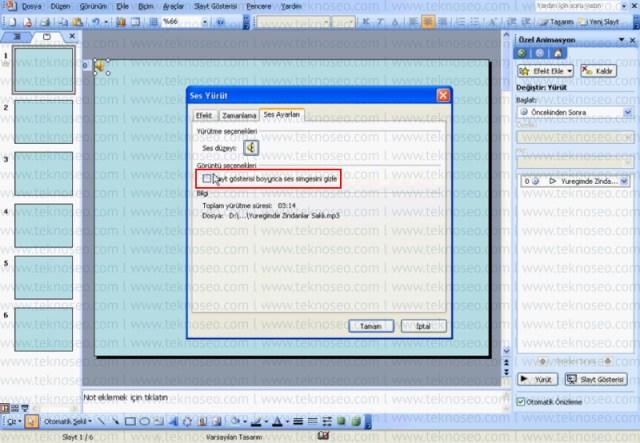 powerpoint 2003,birden fazla slaytta müzik çalma,slayta müzik ekleme,birden fazla slayta müzik ekleme,slayta müzik nasıl eklenir