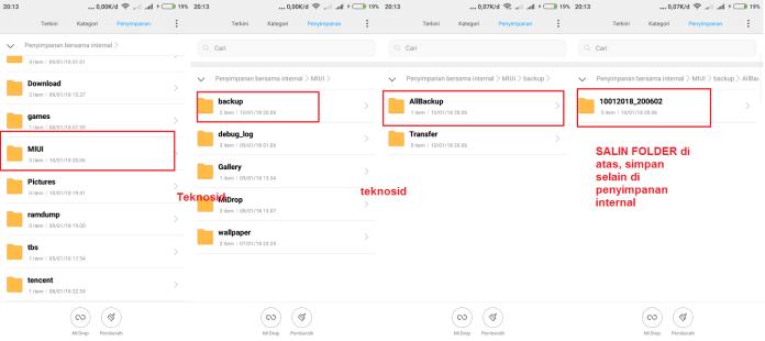 Folder Backup Xiaomi