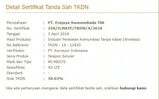 TKDN - Xiaomi Redmi Note 5
