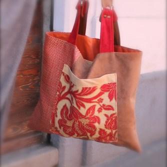 borsa di tessuto fatta a mano