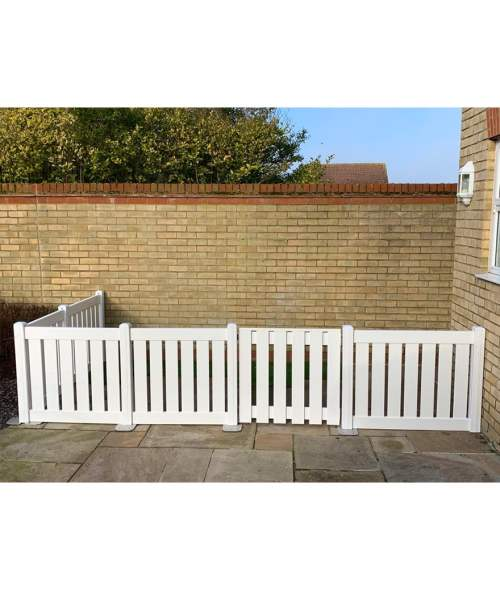 Picket Fence White Gate
