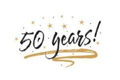 50 jaar gefeliciteerd Engels
