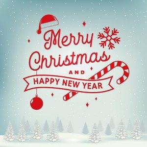 Uitnodigingskaart voor de kerst