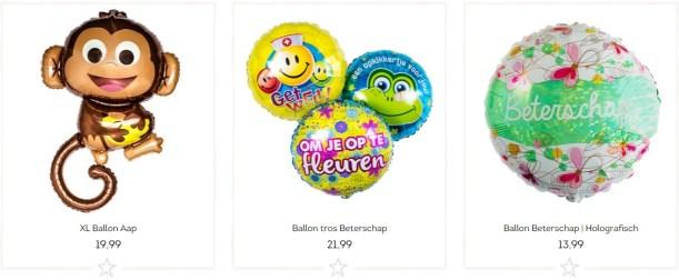 Ballonnen beterschap wensen