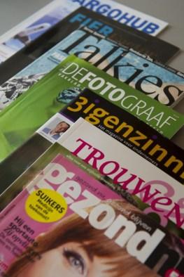 de magazines waarvoor Tekstontwerp werkt als freelance journalist