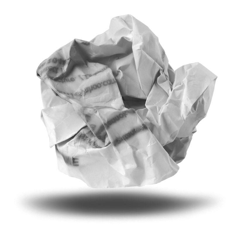Een prop papier