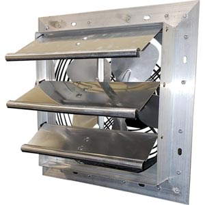 direct drive exhaust fans with shutters