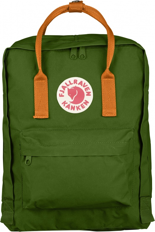 Fjällräven Kånken Classic - Leaf Green - Burnt Orange