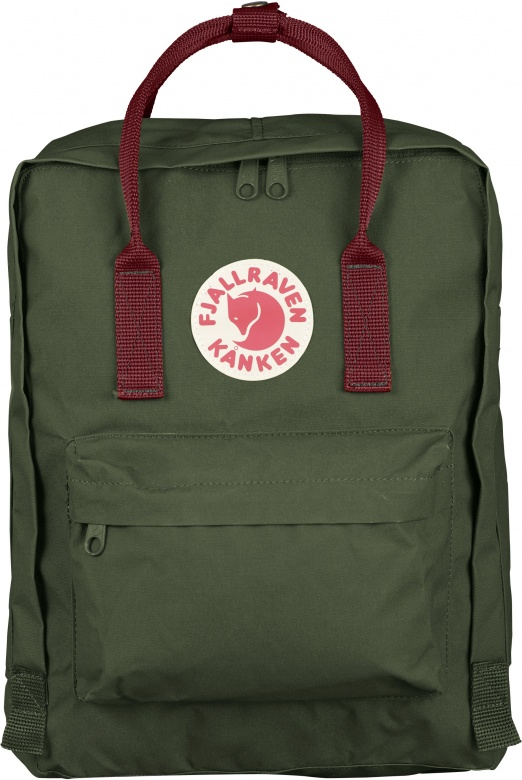 Fjällräven Kånken Classic - Forest Green - Ox Red