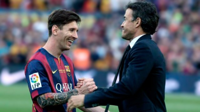 """Luis Enrique valoró a Messi al club catalán: """"Me hubiese gustado que el acuerdo fuera amistoso"""" (foto archivo)"""