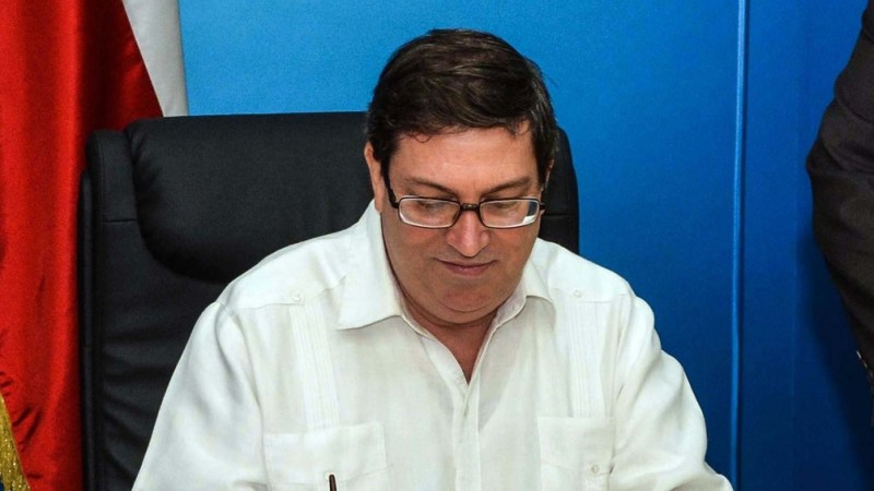 Bruno Rodríguez cuestionó la buena voluntad de la administración estadounidense