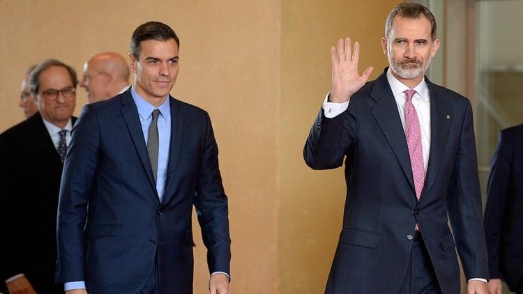 Torra, Sánchez y Felipe VI