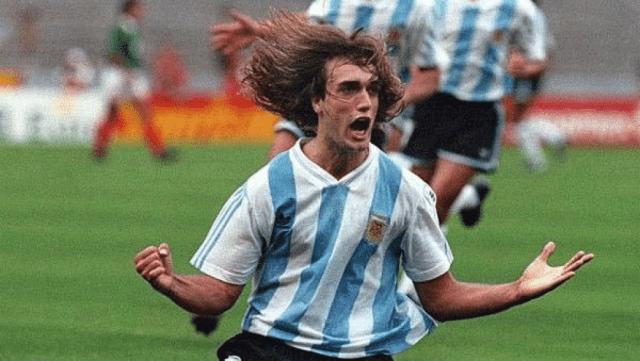 """Batistuta, gran figura de la Argentina en la Copa América 193 de México, el último t´tiulo """"albiceleste"""" con Gorosito en el plantel (foto archivo)"""