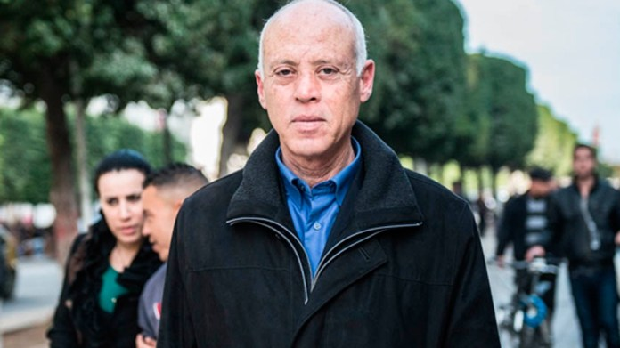 El presidente tunecino Kais Saied.