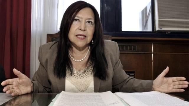 La jueza de la Cámara Federal de Casación Penal Ana María Figueroa dijo que recibió la visita de un funcionario del Ministerio de Justicia de la anterior gestión.
