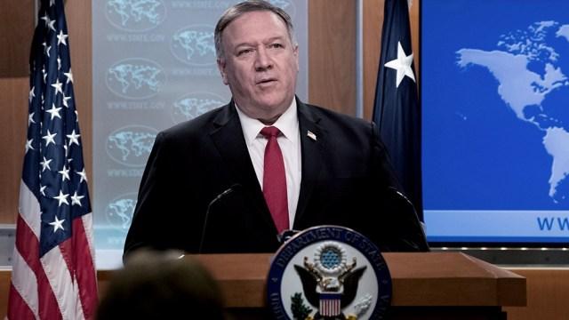 """El secretario de Estado norteamericano, Mike Pompeo, evaluó que la campaña de """"máxima presión"""" de Estados Unidos estaba funcionando ."""