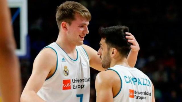 Doncic y Campazzo en Real Madrid: ¿Se repetirá esta foto en Dallas? (Foto: Real Madrid - ACB)