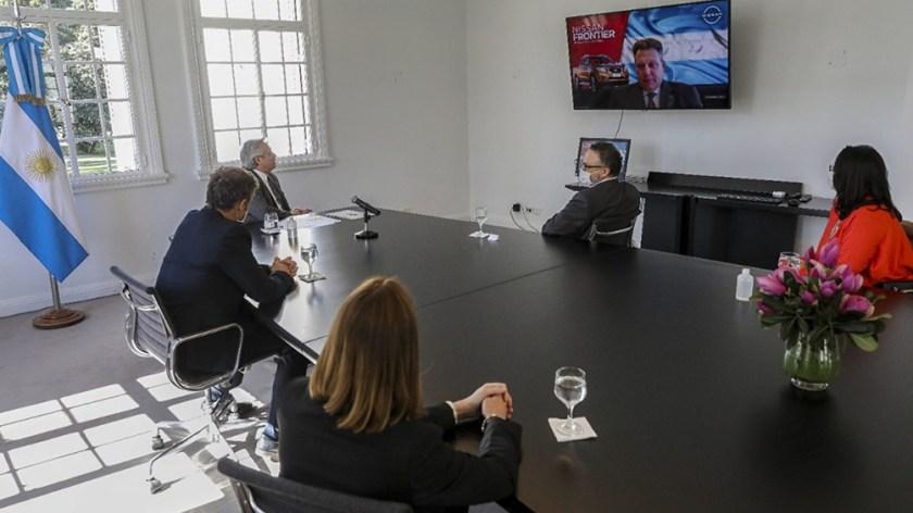 Guy Rodriguez le contó al Presidente los planes de desarrollo de Nissan.