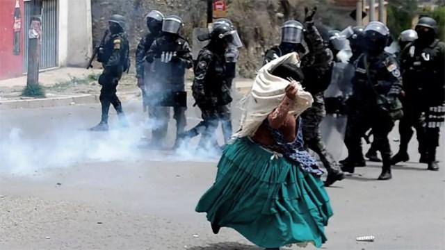 La represión en Bolivia luego del golpe de Estado contra Evo Morales.