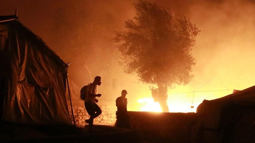 El incendio devastó el campamento de refugiados