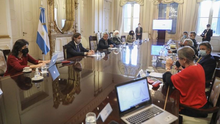 La reunión se desarrolló en la Casa Rosada