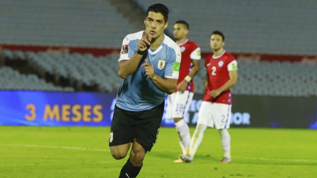 """Suárez, uno de los referentes de la lista del """"Maestro"""" para Eliminatorias (Foto: @Uruguay)"""