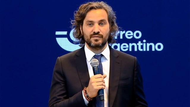 El jefe de Gabinete, Santiago Cafiero, durante la presentación en el CCK.