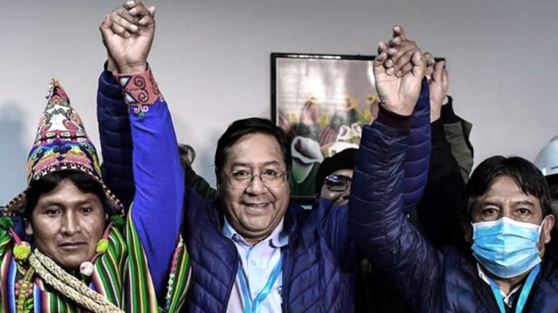 Arce y Choquehuanca, del partido MAS se consagraron en primera vuelta, con 55,1% de los votos.
