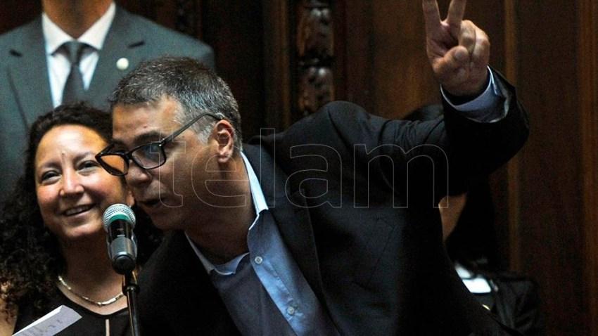 El legislador porteño del Frente de Todos, Javier Andrade.