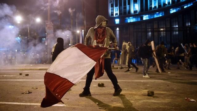Las protestas se desataron por la destitución del presidente Martín Vizcarra