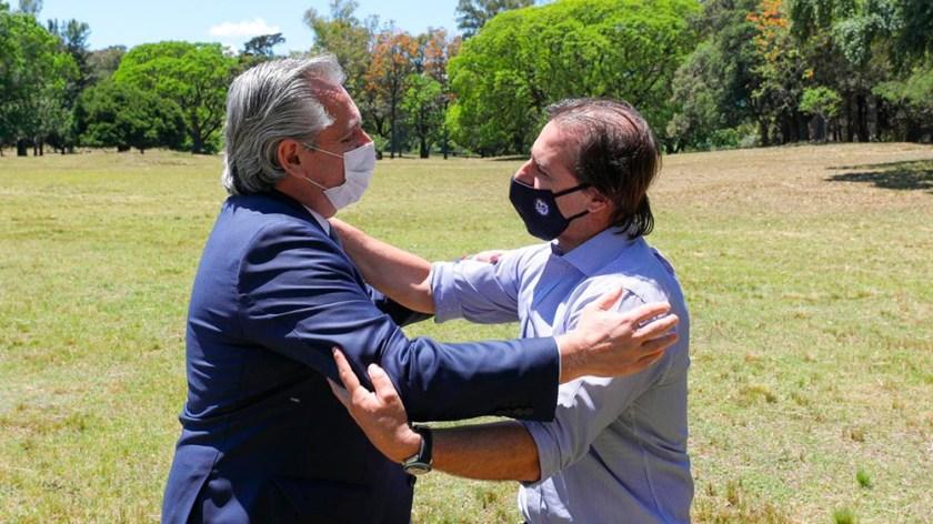 Los mandatarios compartieron un almuerzo de trabajo en la residencia presidencial Anchorena.