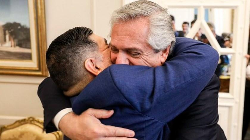 Junto al presidente Alberto Fernández.
