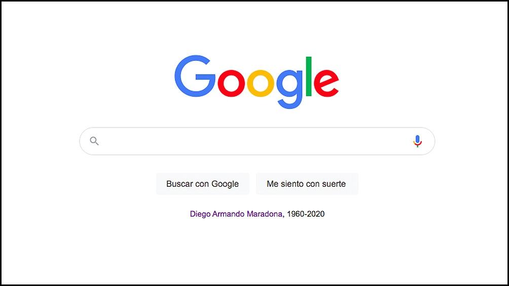 """La portada de Google este jueves, con el """"homenaje histórico""""."""